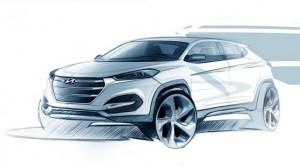 Hyundai Tucson schets