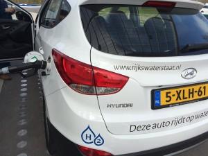 Hyundai ix35 waterstof tanken