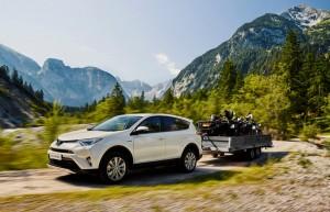 Toyota RAV4 hybrid trekgewicht