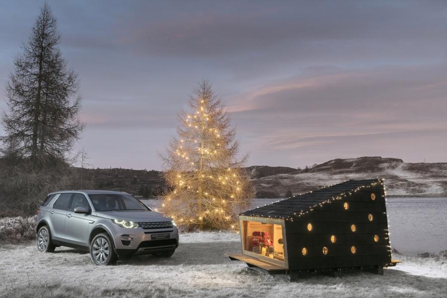 Land Rover houten schuilhut